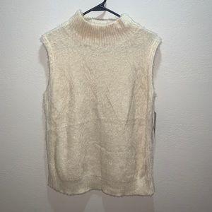 14th & Unión  cream top sleeveless sz XL new